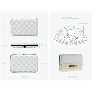 Porte-Cartes Quilted Button