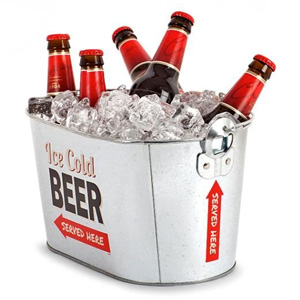 Beer Bucket With Bottle Opener.